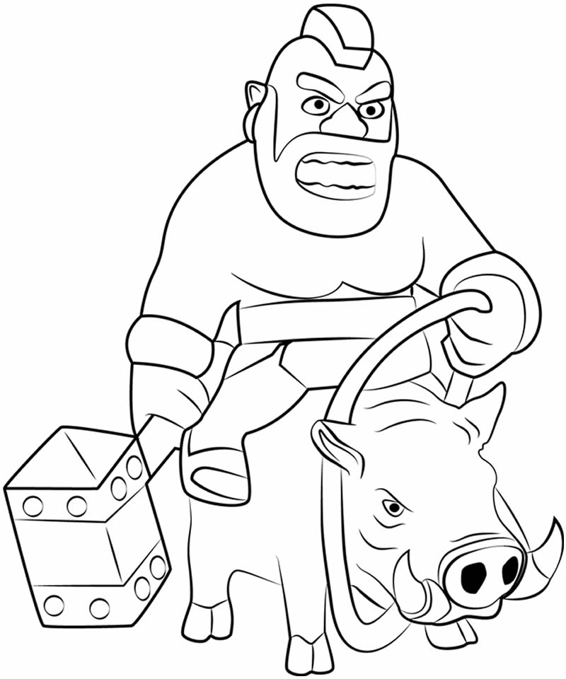 Desenho de Clash of Clans para pintar - Corredor