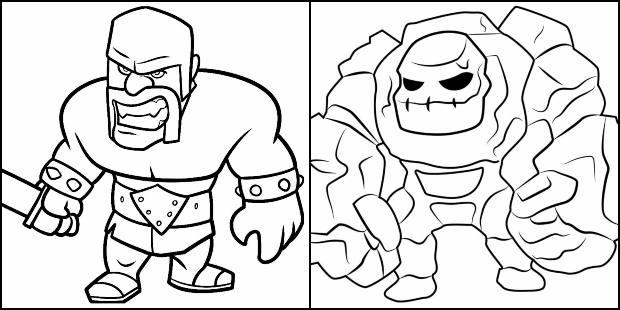Desenhos de Clash of Clans para colorir