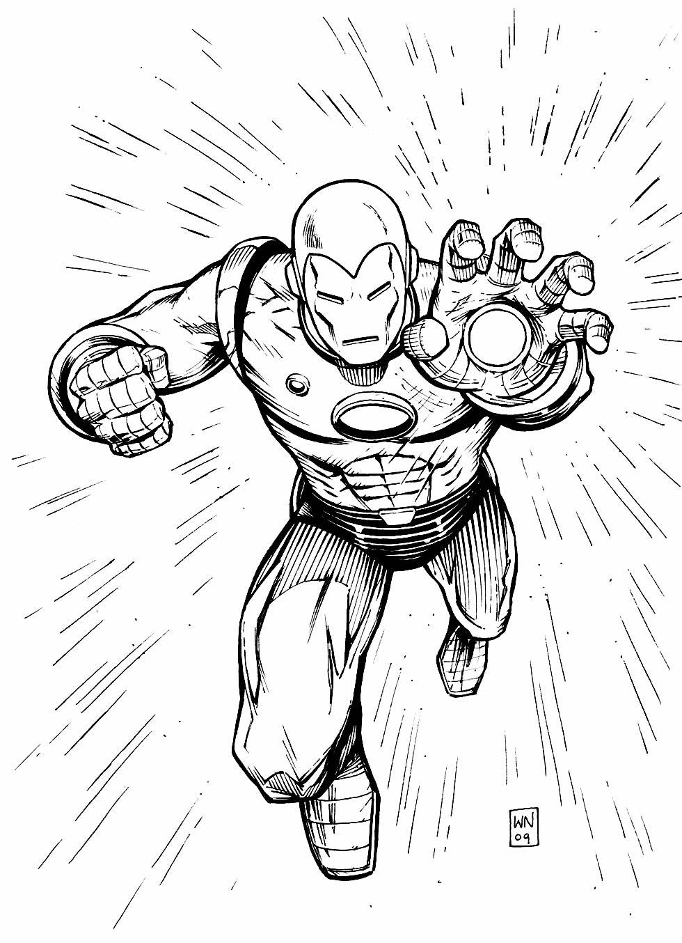 Molde de Homem de Ferro para colorir