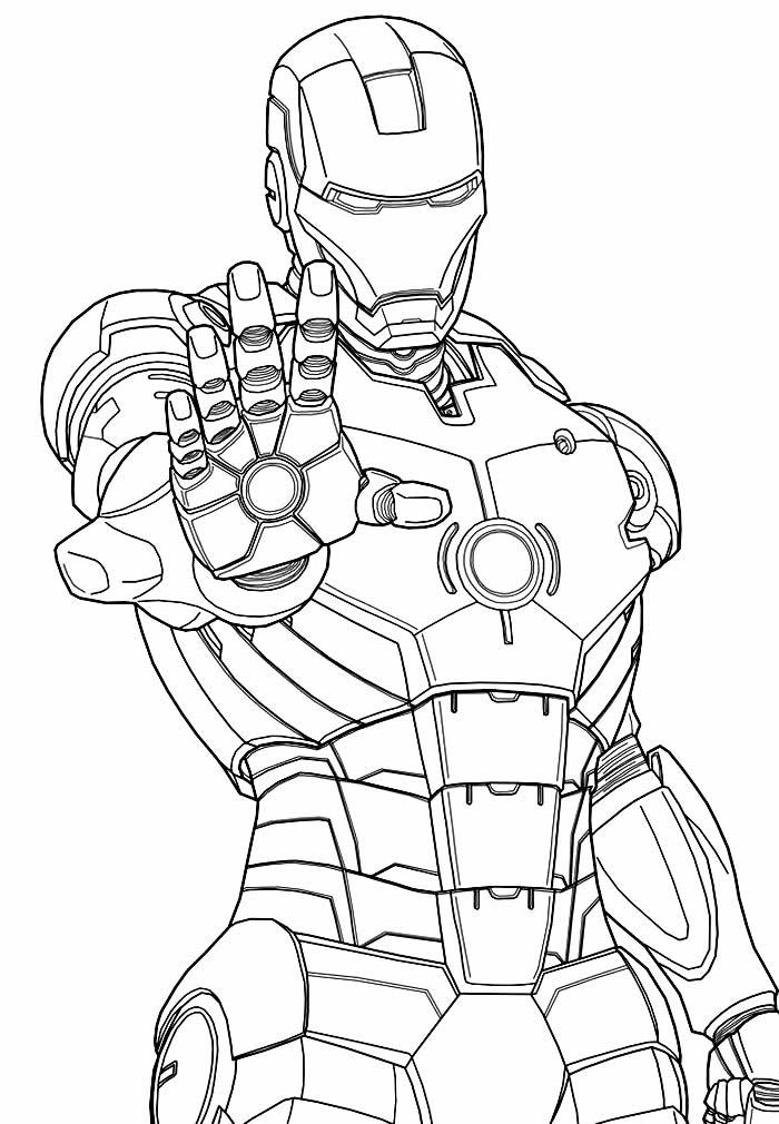 Molde de Homem de Ferro para pintar