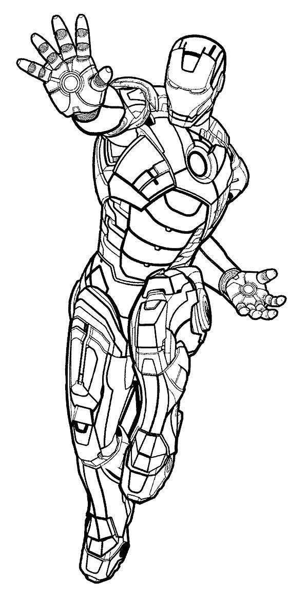 Molde de Homem de Ferro para imprimir e colorir