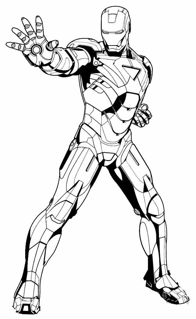 Desenho de Homem de Ferro para imprimir e colorir