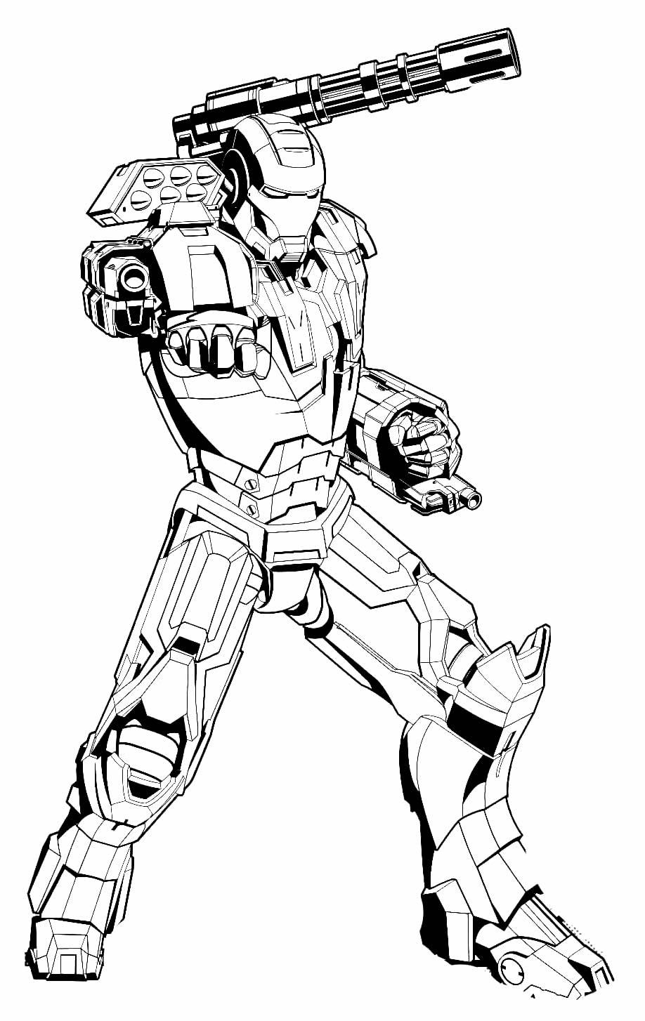 Desenho de Homem de Ferro para colorir