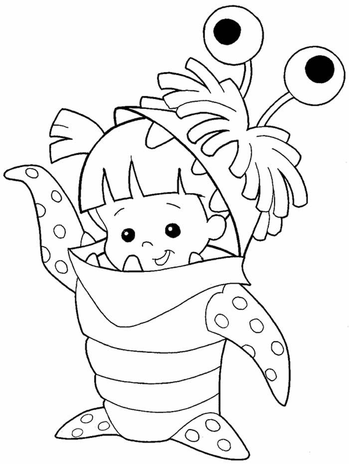 Lindos desenhos de Monstros SA para colorir