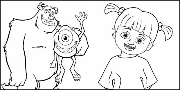 Desenhos de Monstros SA para colorir