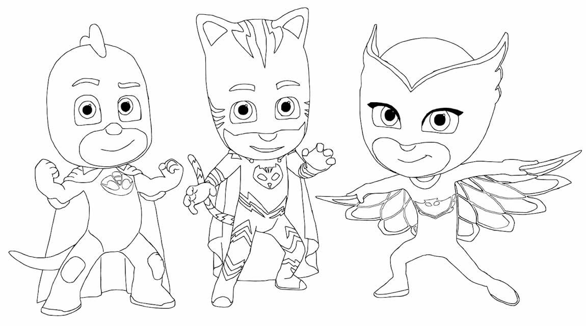 Desenho lindo de PJ Masks