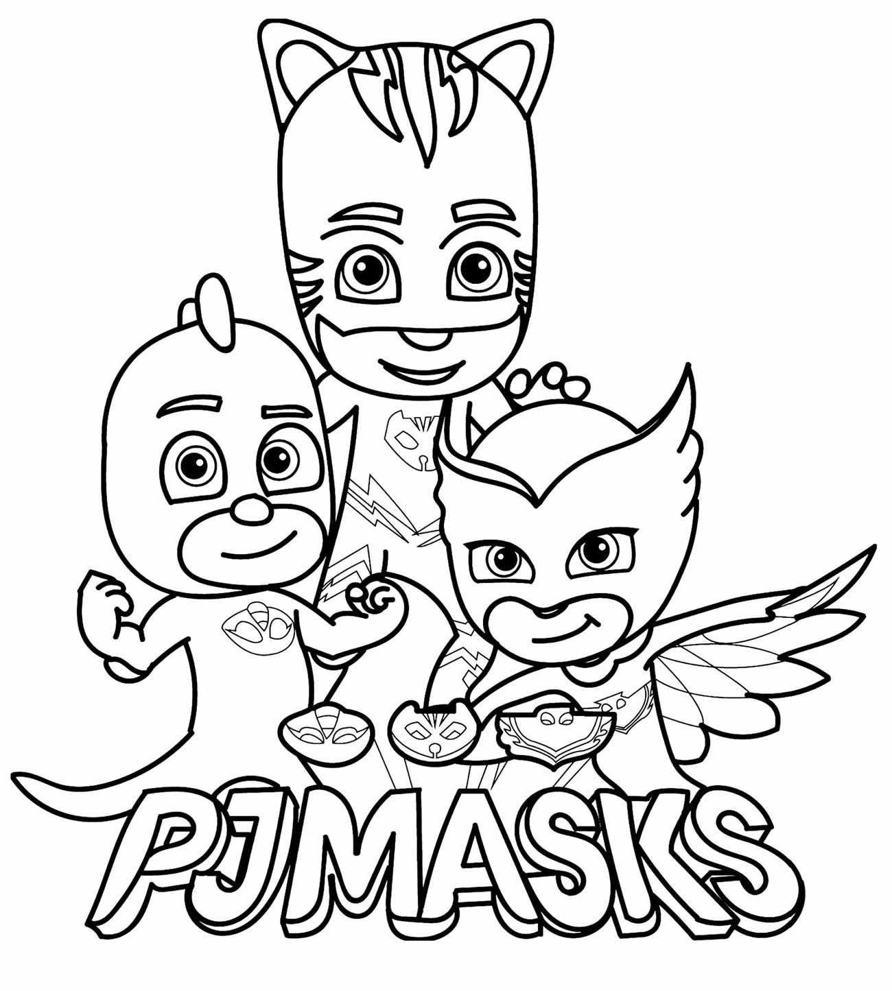 Imagem de PJ Masks para pintar