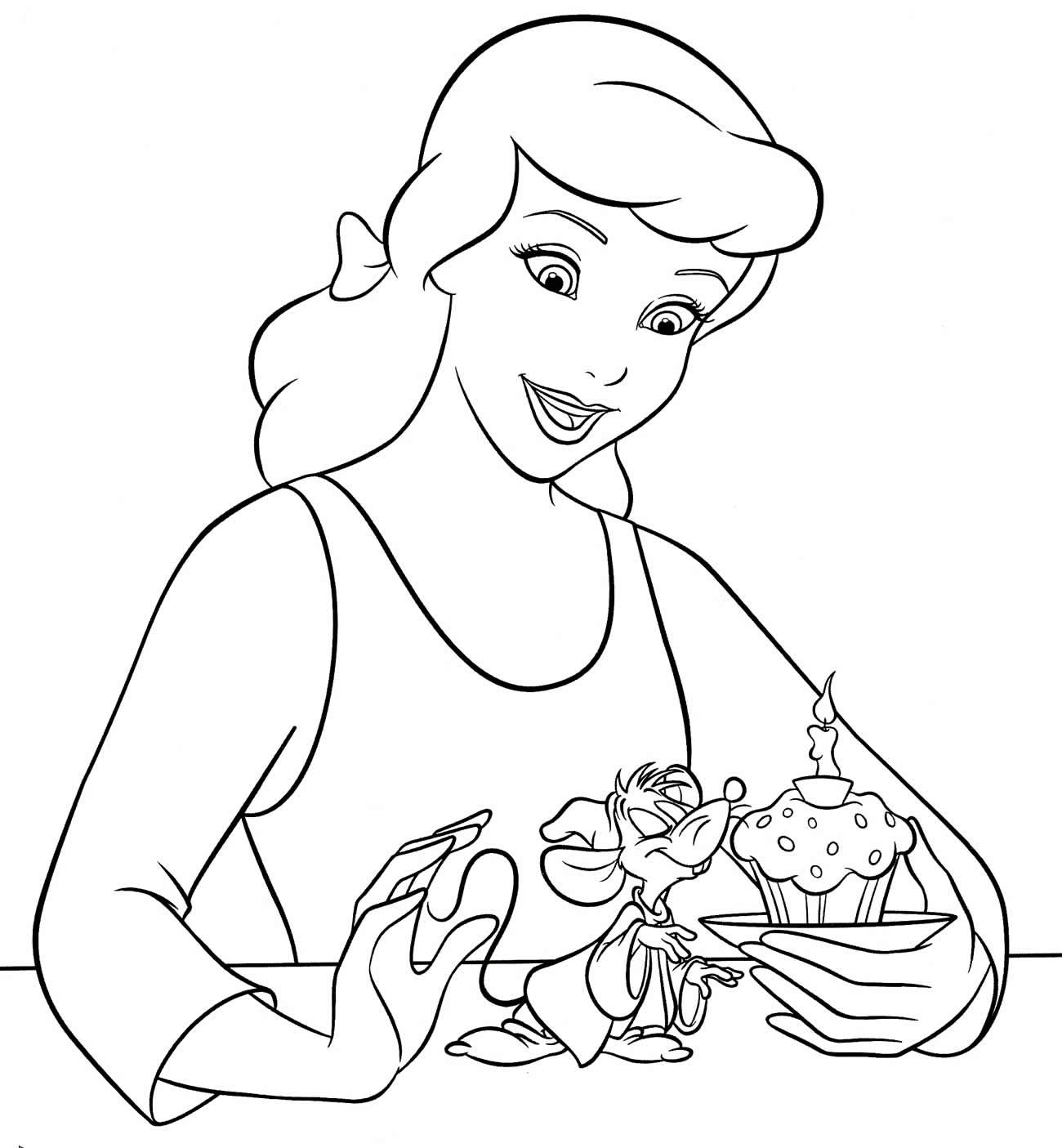 Imagem da Cinderela para colorir
