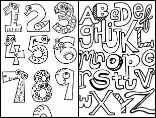 Desenhos educativos para pintar e colorir