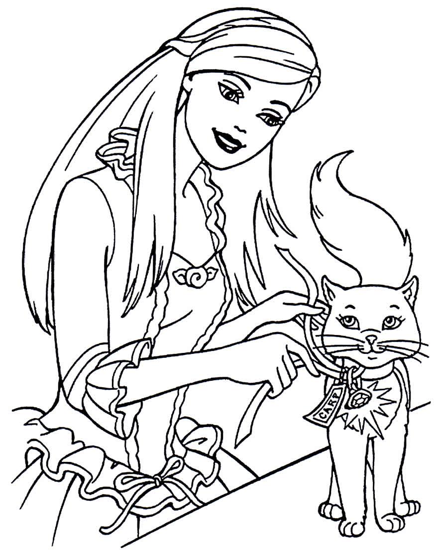 Imagem da Barbie para pintar