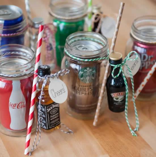 Lembrancinhas com potes de vidro para o Natal