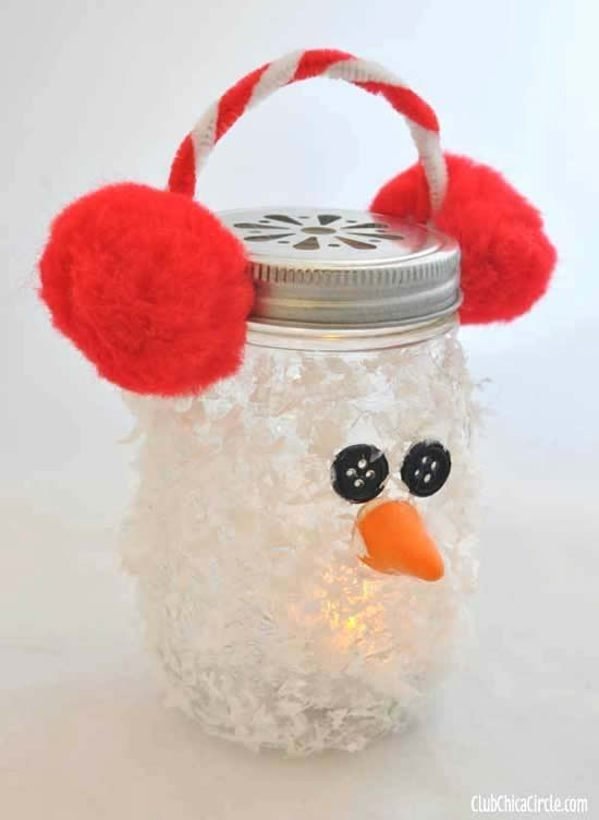 Lembrancinha com pote de vidro para Natal