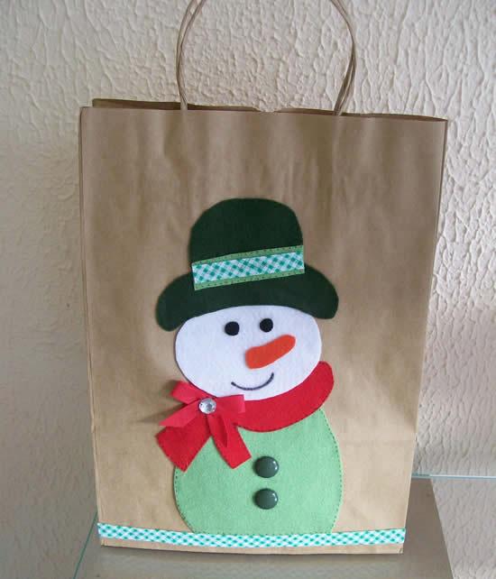 Sacola de papel para Natal