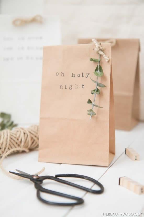 Sacola de papel de Natal