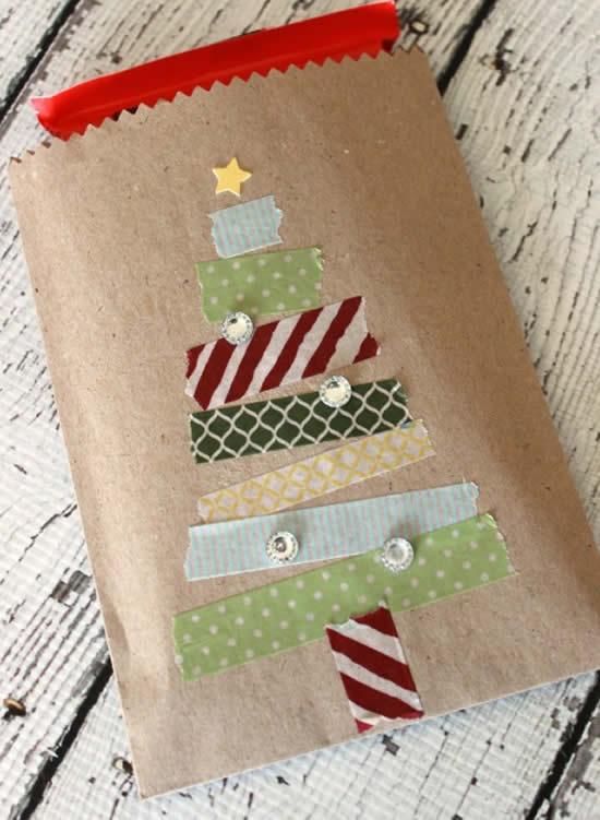 Linda sacola de papel para Natal