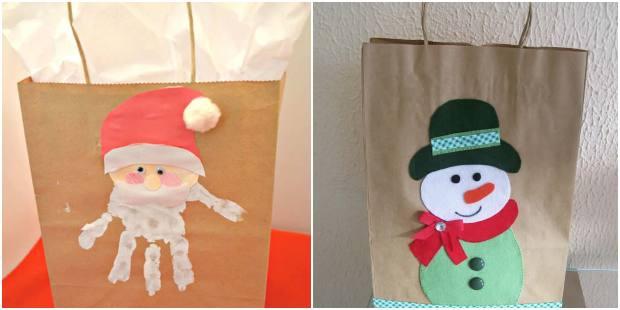 Sacolas de papel para Natal