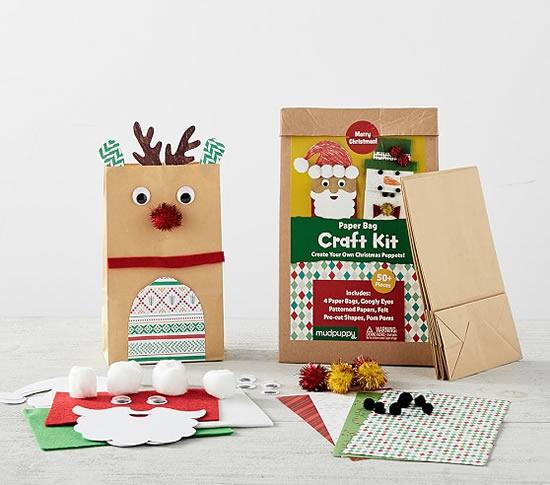 Sacolas natalinas de papel decoradas