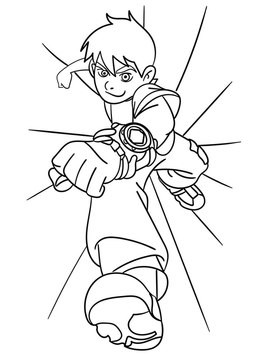 Desenho de Ben 10 para pintar