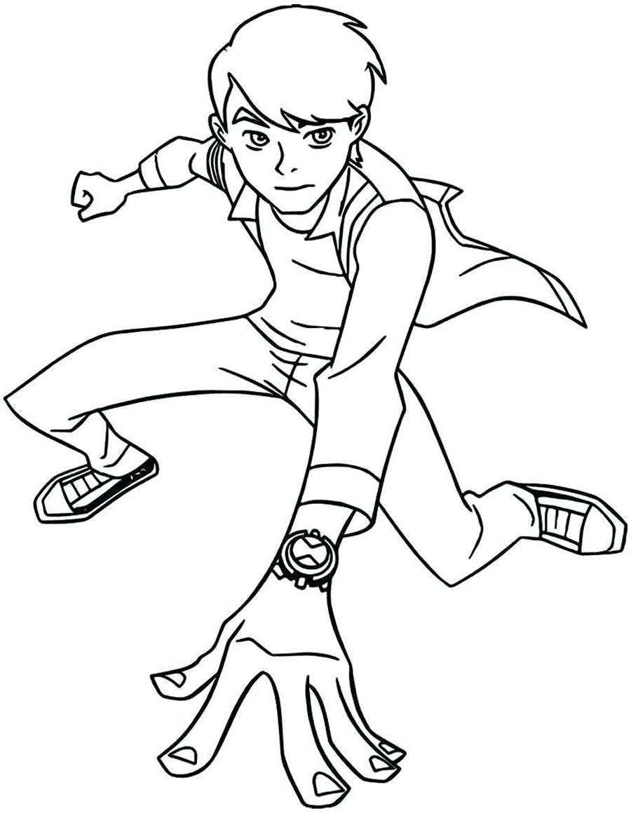 Desenho de Ben 10 para colorir