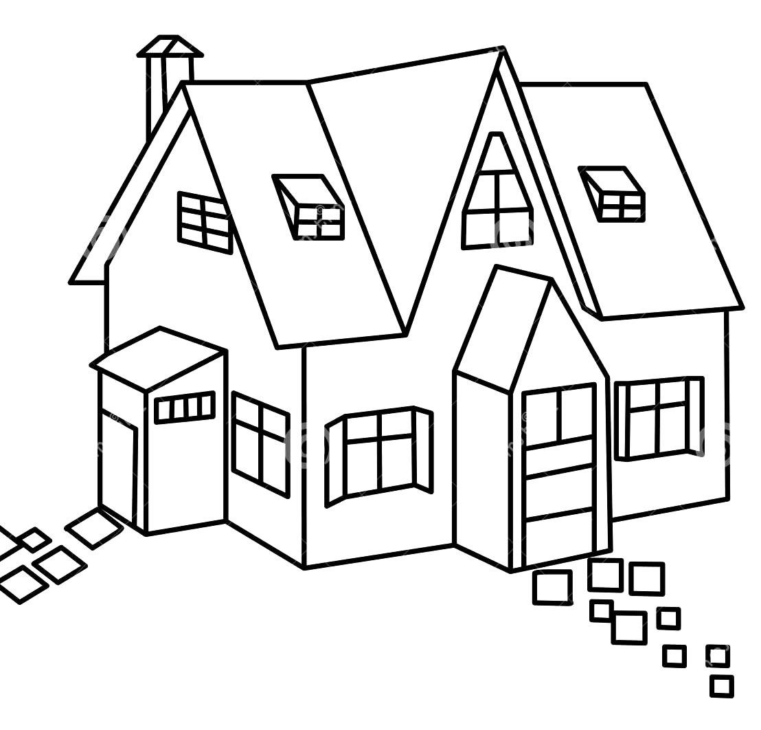 Desenhos De Casa Para Imprimir E Colorir Pop Lembrancinhas