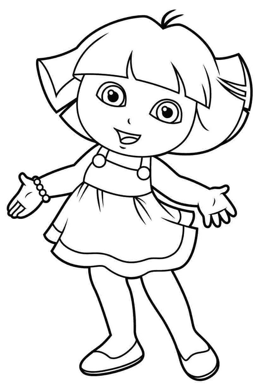 Imagem de Dora Aventureira para colorir