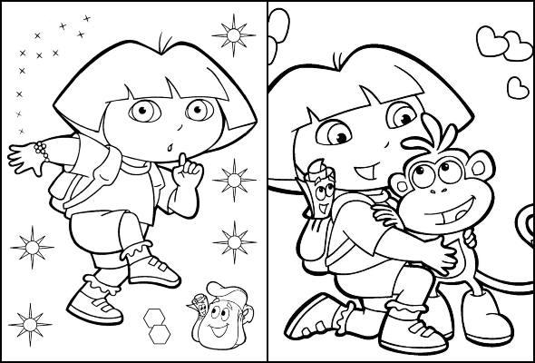 Desenhos De Dora Aventureira Para Colorir Pop Lembrancinhas