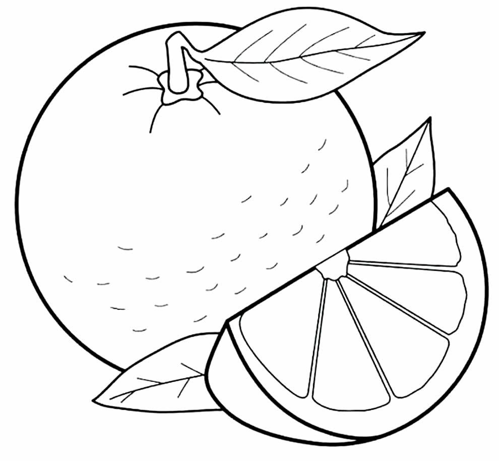 Lindos desenhos de frutas para colorir