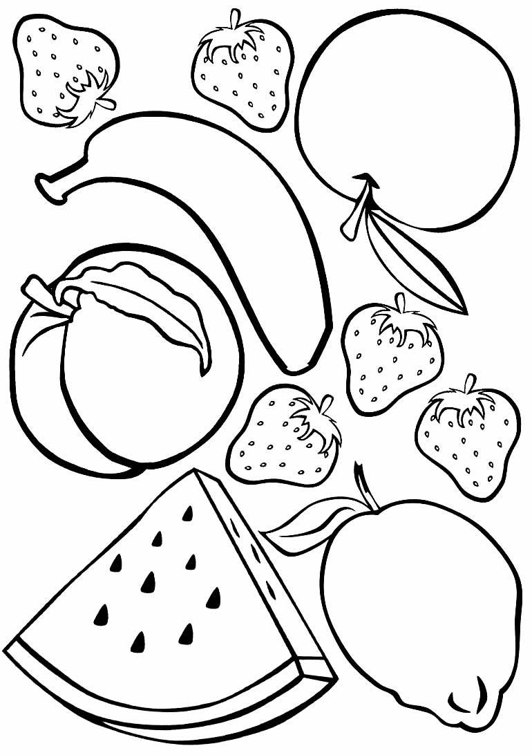 Desenho de frutas para colorir