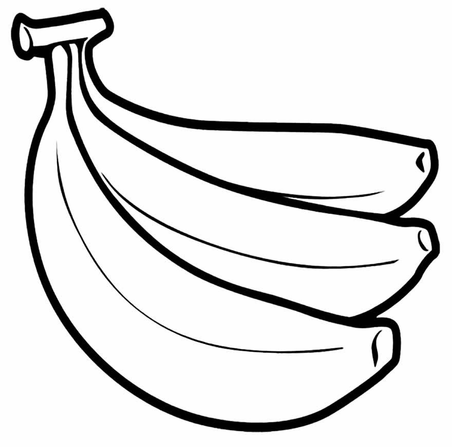 Banana para colorir