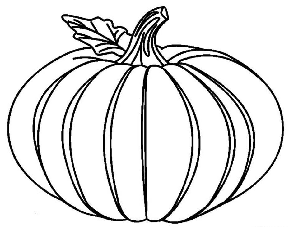 Desenho de abóbora para colorir