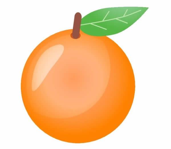 Desenho de laranja