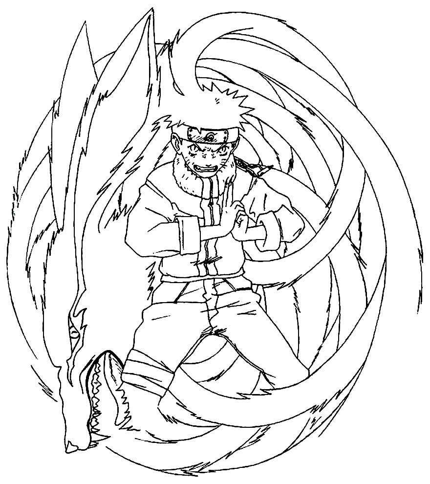Desenho lindo do Naruto