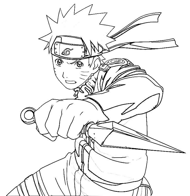 Desenho para pintar do Naruto