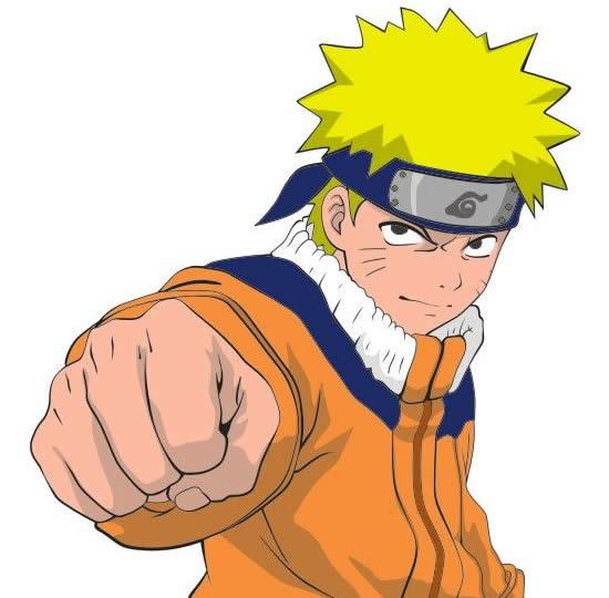 Molde colorido do Naruto