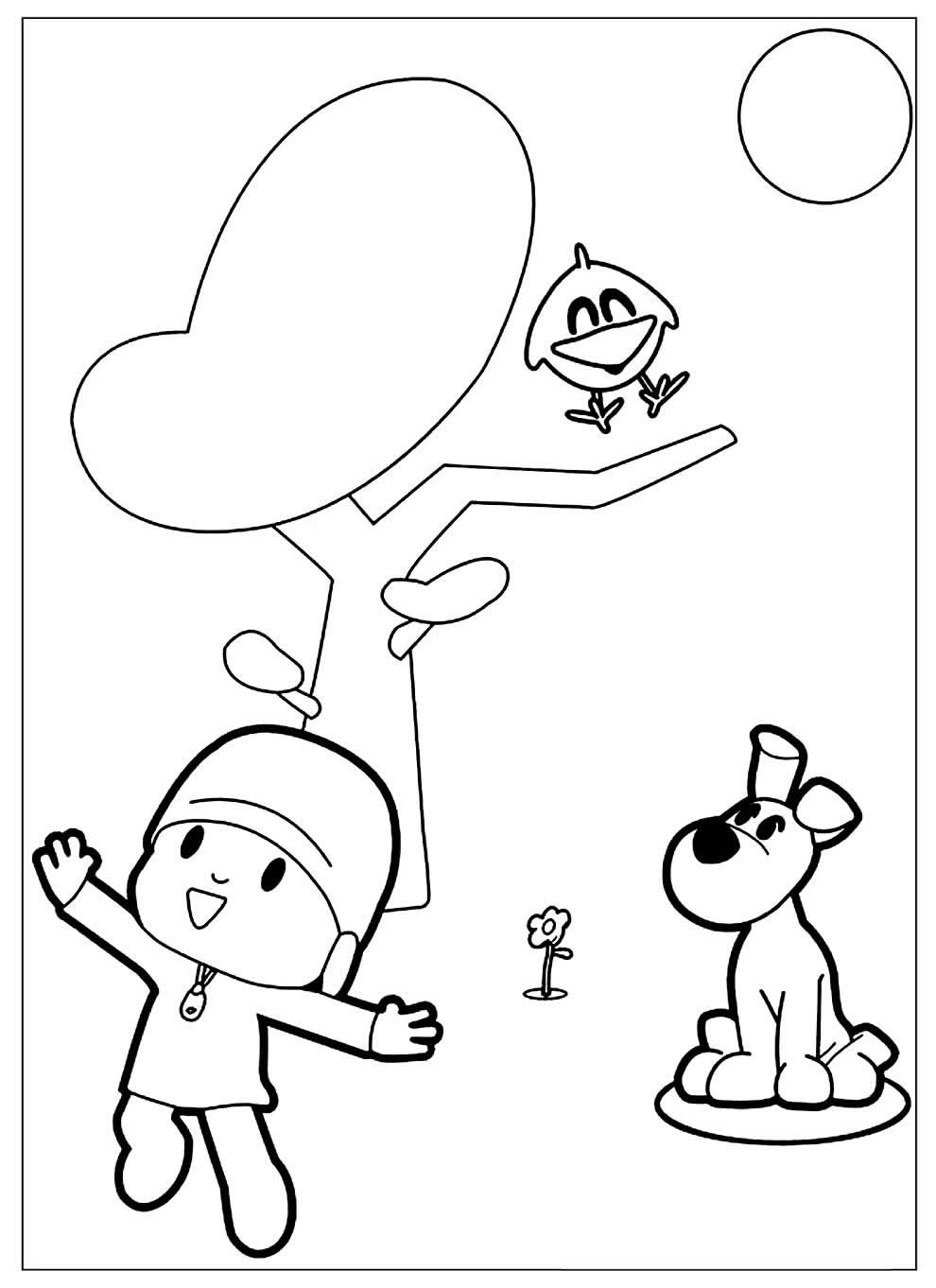 Imagens para colorir de Pocoyo