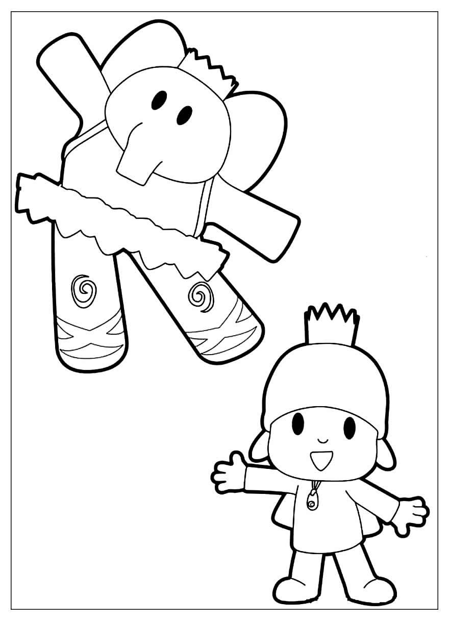 Páginas para colorir de Pocoyo