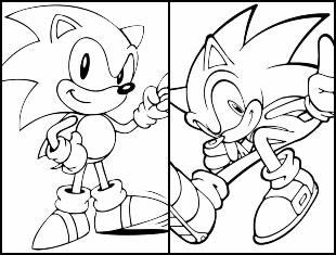 Desenhos de Sonic para imprimir e colorir