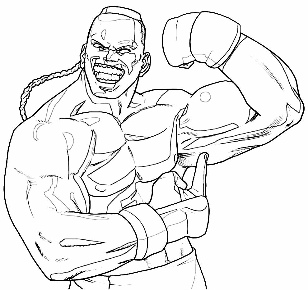 Desenho de Balrog para colorir - Street Fighter