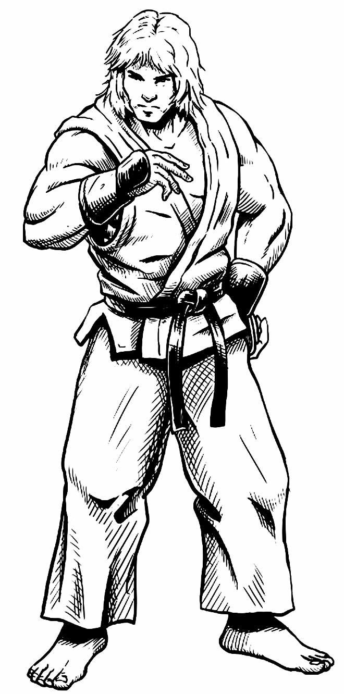 Desenho de Ken para colorir - Street Fighter
