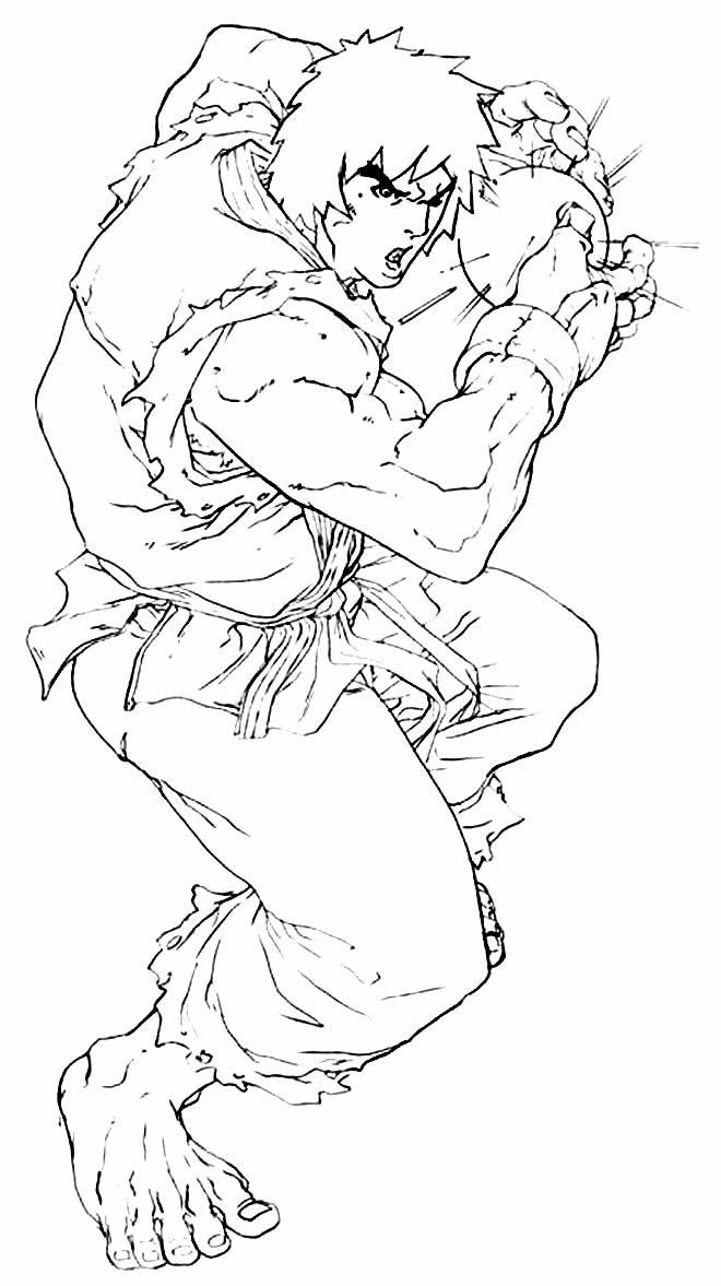 Desenho de Ken - Street Fighter