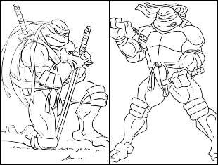 Desenhos de Tartaruga Ninja para colorir