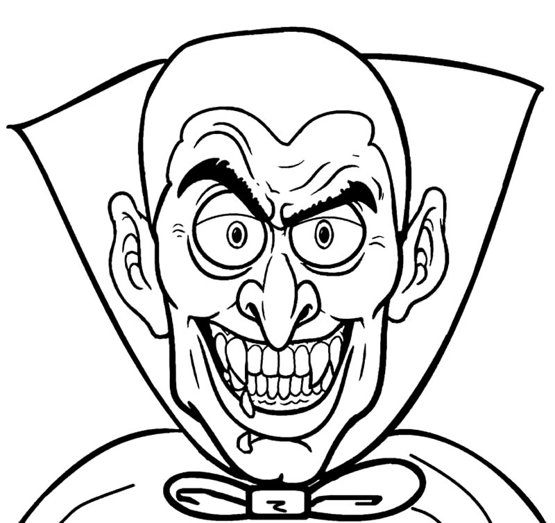 Desenhos de vampiro para colorir