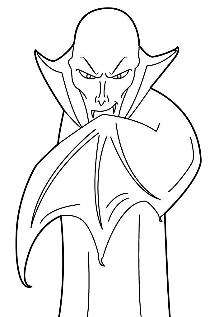 Desenhos de vampiro para pintar