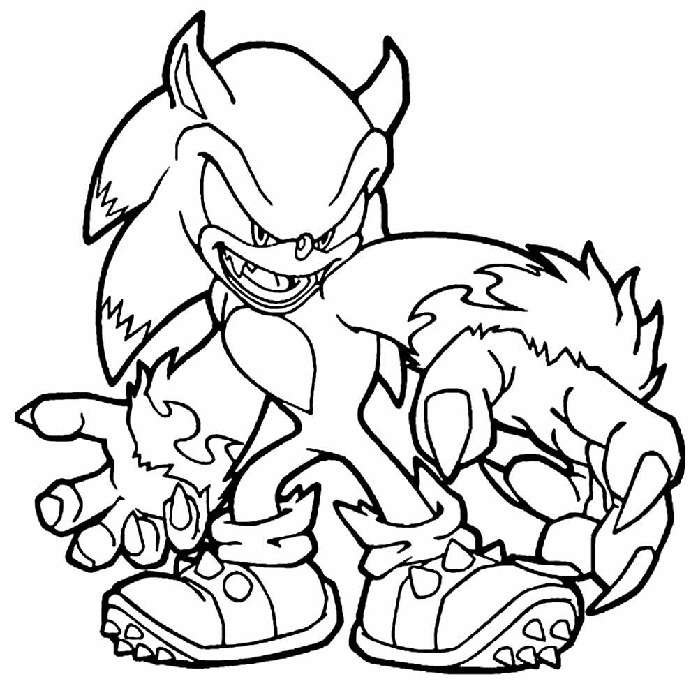 Desenho do Sonic