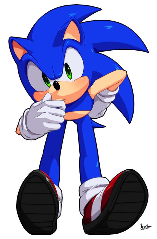 Desenho Colorido de Sonic