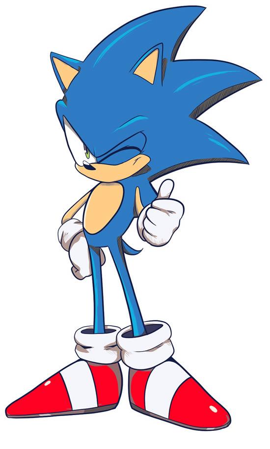 Molde colorido de Sonic