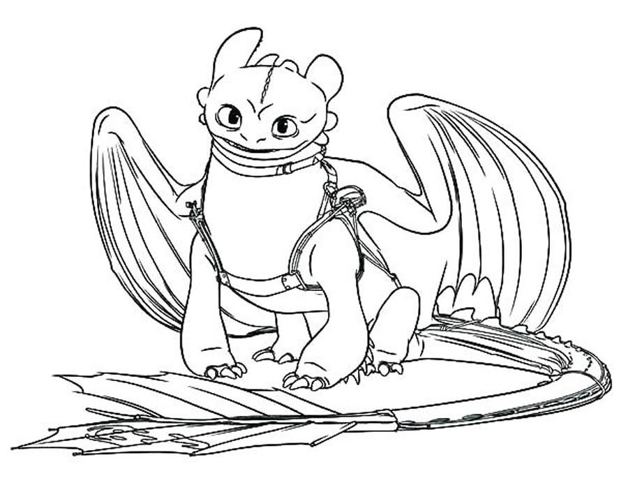 Desenho de Como Treinar seu Dragão para colorir