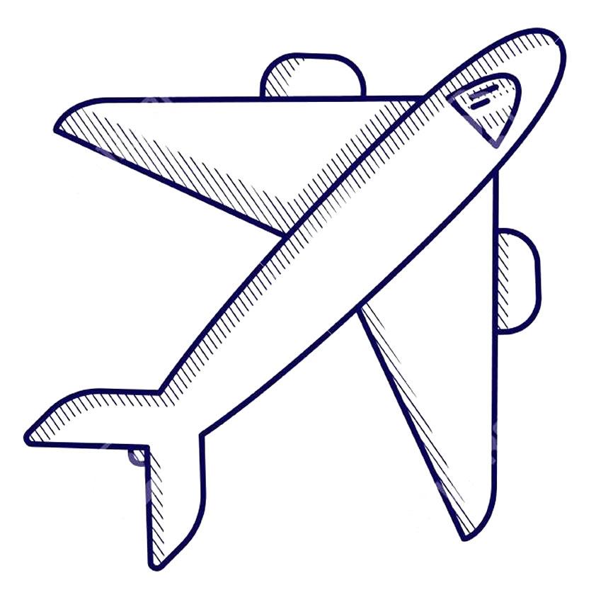 Imagens para colorir de avião