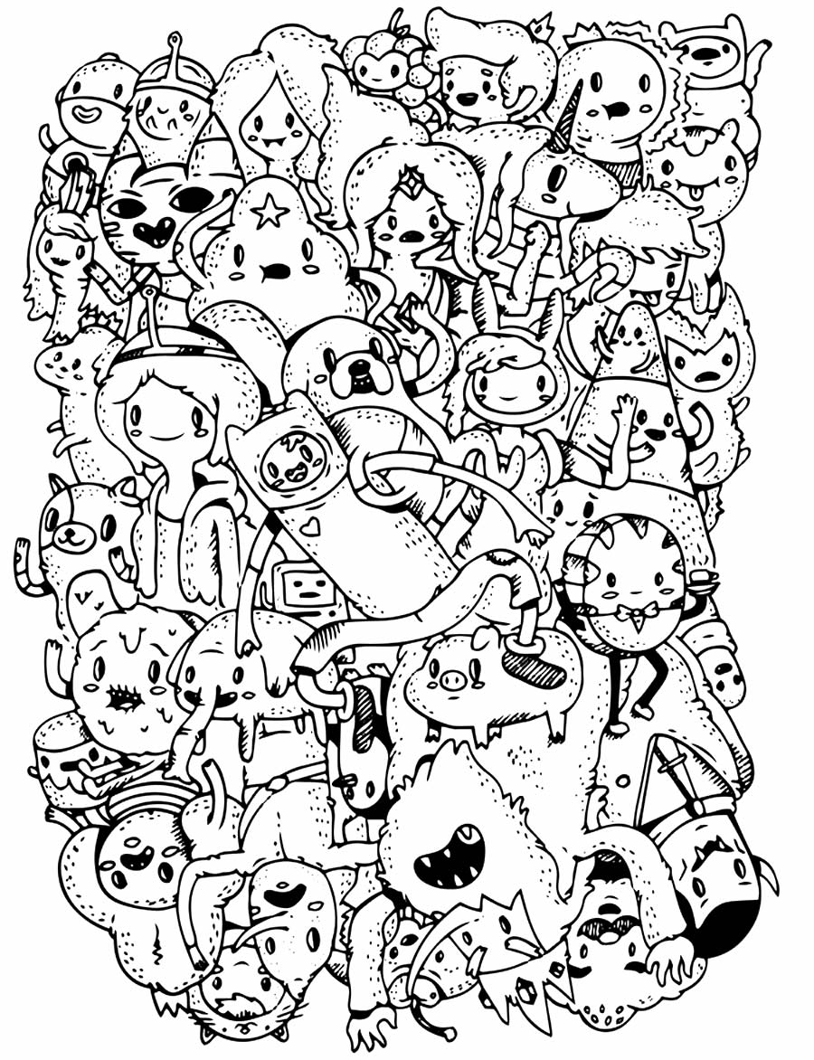 Desenho de Hora de Aventura para colorir