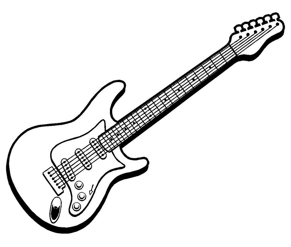Desenho de guitarra para colorir